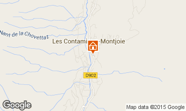 Mapa Les Contamines Montjoie Apartamento 58540