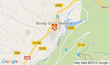 Mapa Bourg saint Maurice Apartamento 106036