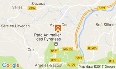 Mapa Argeles Gazost Casa rural 17206