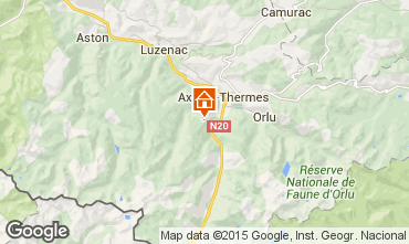 Mapa Ax Les Thermes Chalet 67772