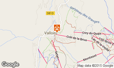 Mapa Valloire Apartamento 79621