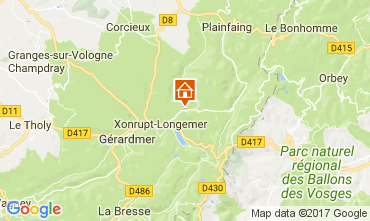 Mapa Gérardmer Casa rural 90797