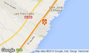 Mapa La Ametlla de Mar Villa 103289