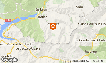 Mapa Les Orres Chalet 57245