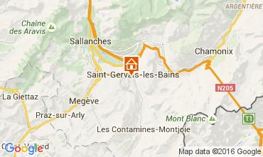 Mapa Saint Gervais Mont-Blanc Apartamento 75938