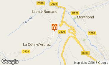 Mapa Morzine Apartamento 15364