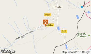 Mapa Châtel Chalet 800