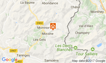 Mapa Morzine Chalet 112052