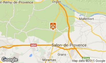 Mapa Eyguières Villa 92658