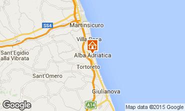 Mapa Alba Adriatica Apartamento 40987