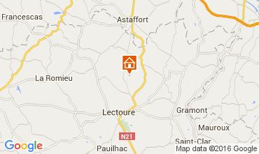 Mapa Lectoure Casa rural 89809