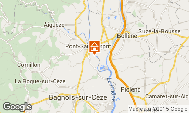 Mapa Pont Saint Esprit Casa 96050