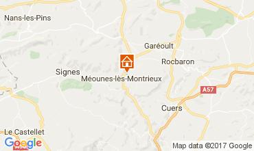 Mapa Hyères Villa 82417