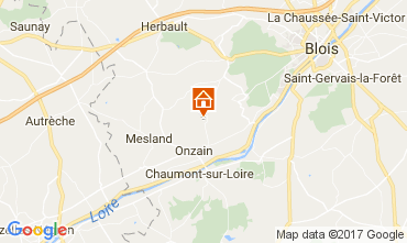 Mapa Onzain Mobil home 109846