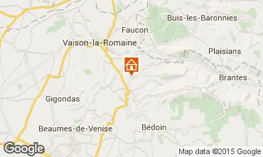 Mapa Malaucène Casa rural 83743