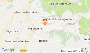Mapa Beaumont du Ventoux Casa rural 12501