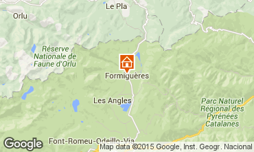 Mapa Formiguères Casa 4019