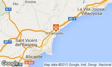 Mapa Alicante Apartamento 55110