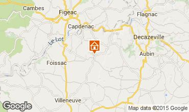 Mapa Villefranche de Rouergue Casa rural 21229