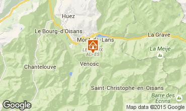 Mapa Les 2 Alpes Apartamento 92550