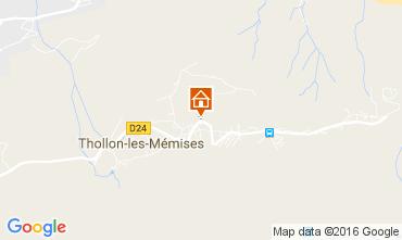 Mapa Thollon Les Mémises Apartamento 106600