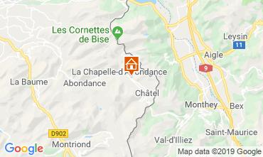 Mapa Châtel Chalet 16141
