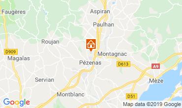 Mapa Pézenas Villa 119745
