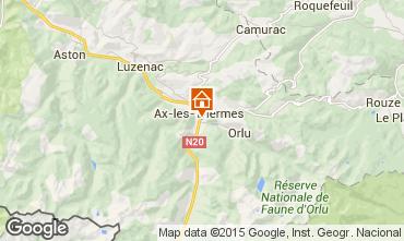 Mapa Ax Les Thermes Apartamento 72066
