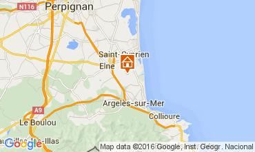 Mapa Argeles sur Mer Casa rural 104429