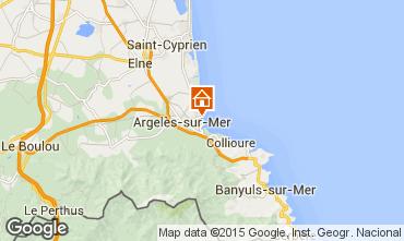 Mapa Argeles sur Mer Apartamento 81302