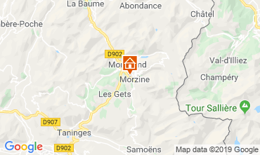 Mapa Morzine Chalet 117973