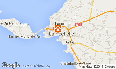 Mapa La Rochelle Casa rural 75124