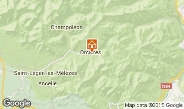 Mapa Orcières Merlette Casa rural 74210