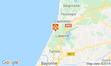 Mapa Labenne Océan Mobil home 102283