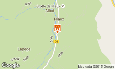 Mapa Ussat les Bains Casa rural 3918