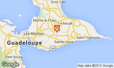 Mapa Sainte Anne (Guadalupe) Casa rural 8024