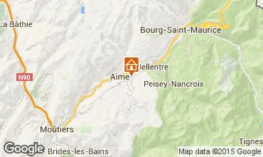 Mapa La Plagne Chalet 64818
