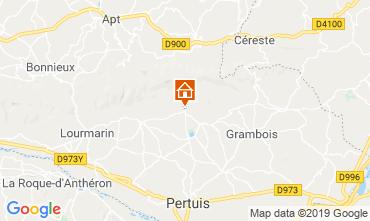 Mapa Lourmarin Casa rural 119717
