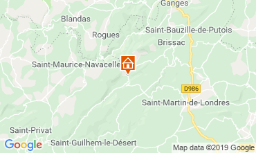 Mapa Saint Guilhem le Désert Casa rural 118530