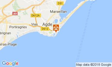 Mapa Cap d'Agde Apartamento 112976