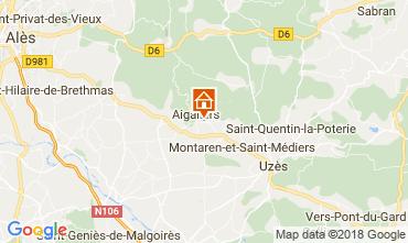 Mapa Uzès Casa rural 68063