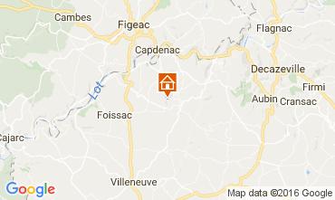 Mapa Villefranche de Rouergue Casa rural 12203
