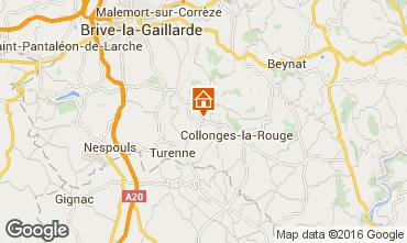 Mapa Brive-la-Gaillarde Casa rural 102138