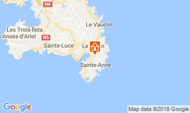 Mapa Sainte Anne (Martinique) Villa 73359