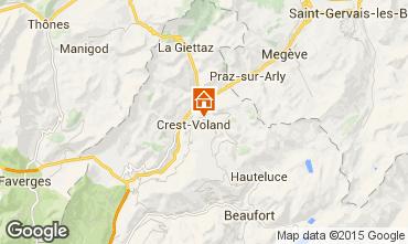 Mapa Crest Voland Cohennoz Apartamento 37613