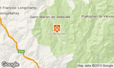 Mapa Les Menuires Apartamento 15411