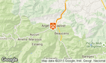 Mapa Argeles Gazost Casa rural 62462