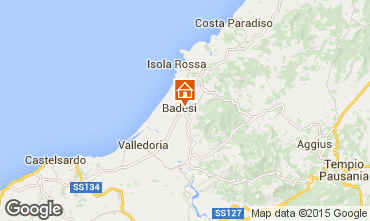 Mapa Badesi Apartamento 43384