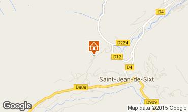 Mapa Saint Jean de Sixt Chalet 99679