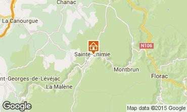 Mapa Sainte-Enimie Casa rural 96906